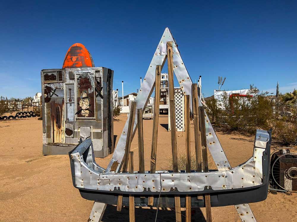 What to do in Joshua Tree- Noah Purafoy museum. Metal sculpture