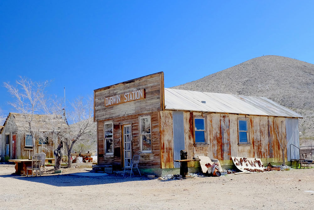 California ghost town of Darwin- abandoned store