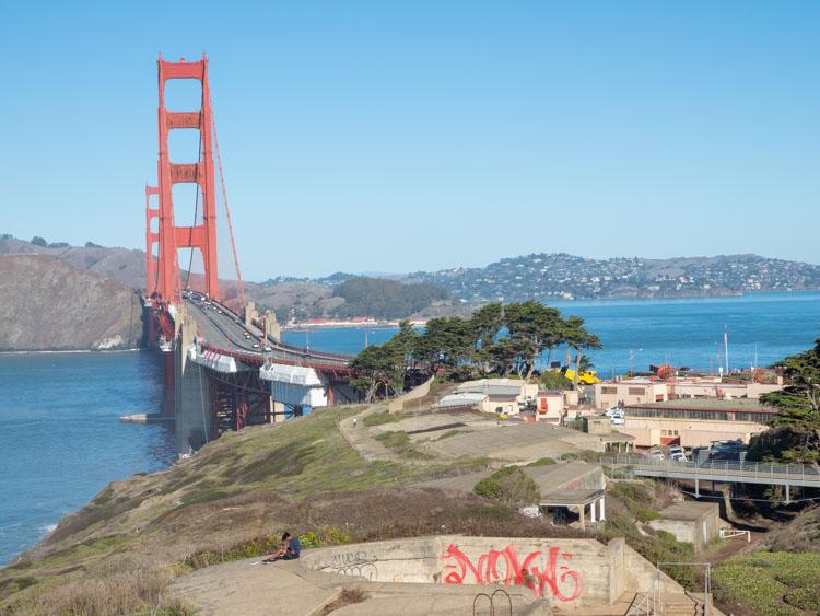 Golden Gate Bridge Battery Spencer Langdon parking