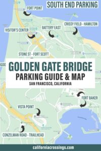 Golden Gate bridge parking map and guide