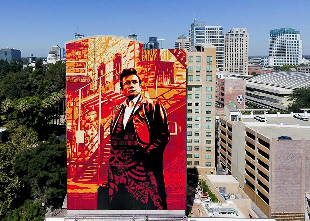 Sacramento mural by Shepard Fairey