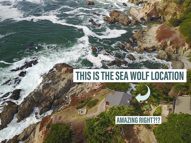 Airbnb in Half Moon Bay Sea Wolf coastal location