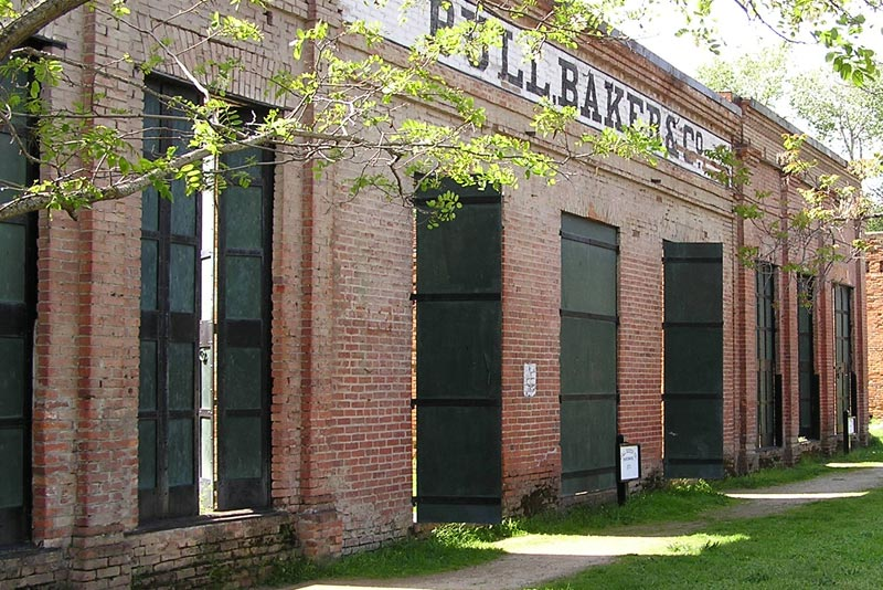Shasta Historic State Park ghost town old brick buildings