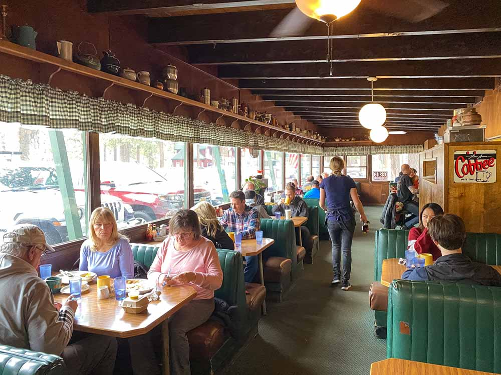 South Lake Tahoe Berts Cafe. People eating breakfast