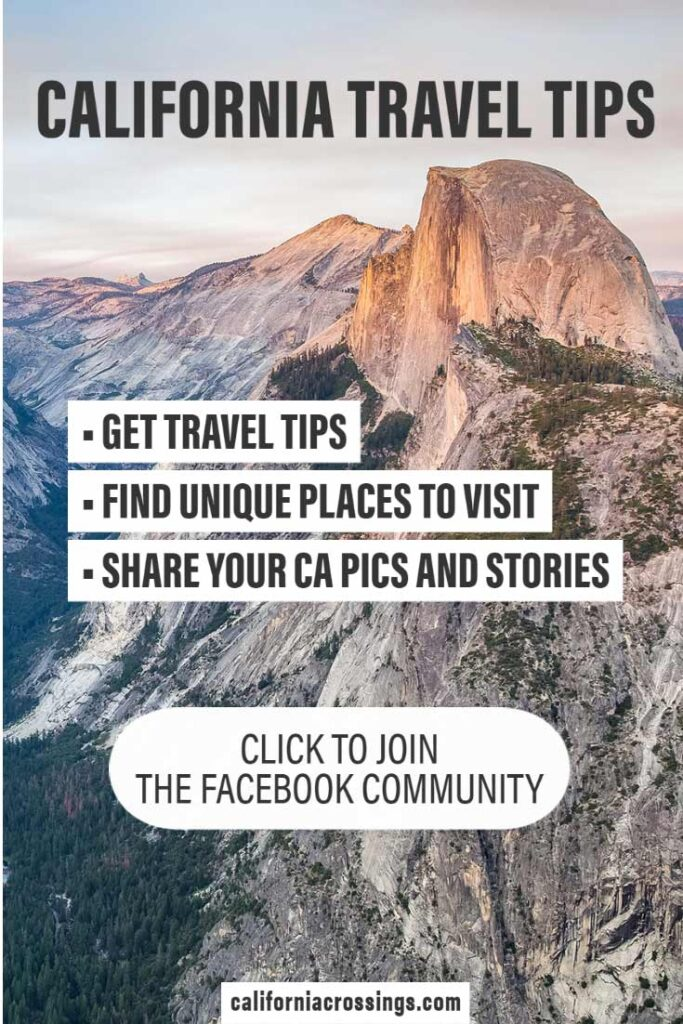California travel tips Facebook Community. Click to join, Pic with Half Dome