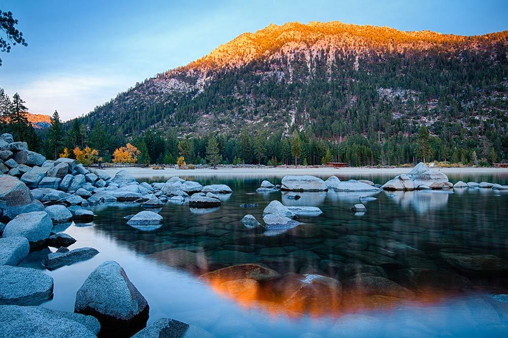 Fun fact about Lake Tahoe sunrise in fall