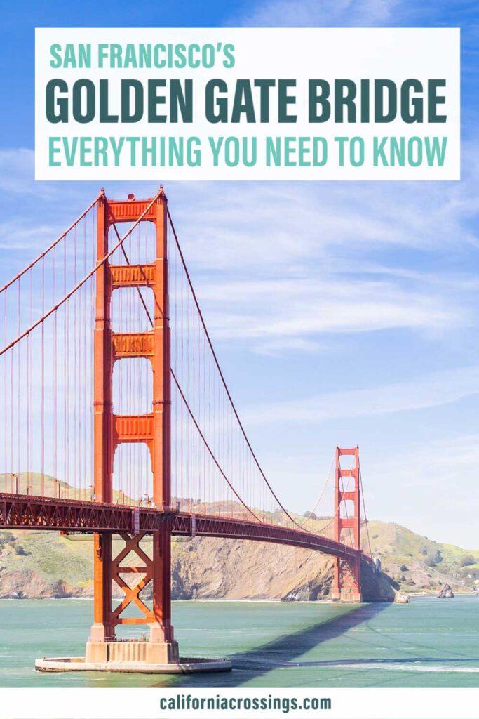 San Francisco Visit the Golden Gate Bridge. Bridge and Bay