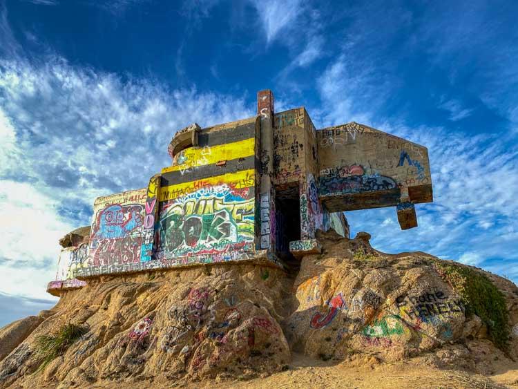 Devil's Slide Bunker with graffiti