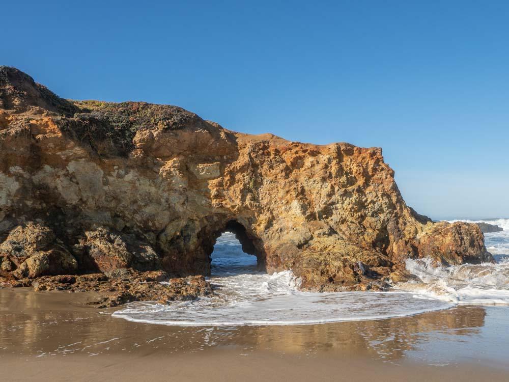 Pescadero State Beach arch