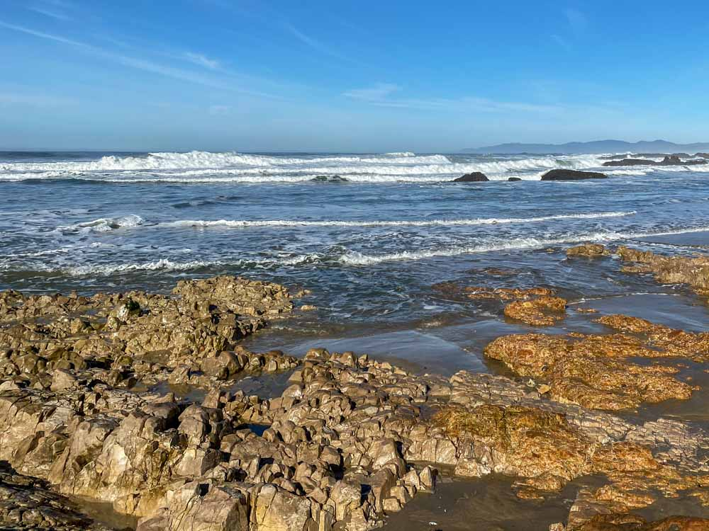 Half Moon Bay Pescadero beach rocks
