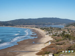 Northern California coastal towns: Stinson Beach overlook