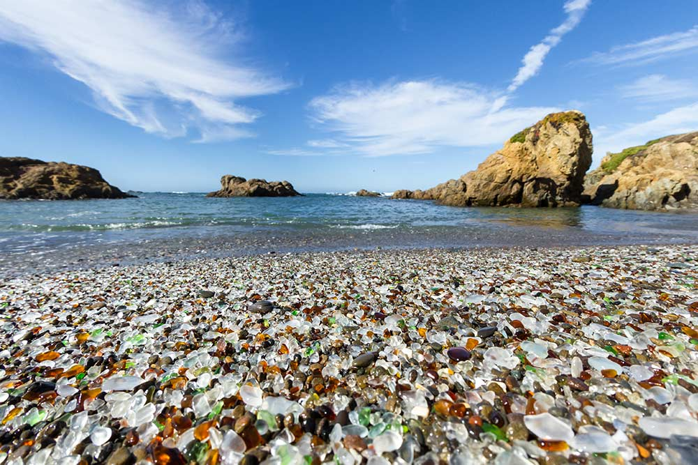 Fort Bragg California glass beach