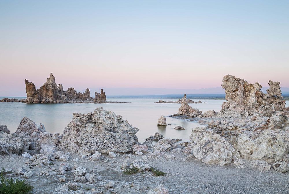 Mono Lake Tufas near Lee Vining CA. limestone spires