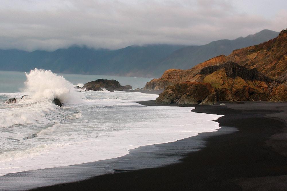 Northern California beach towns: Shelter Cove black sand beach