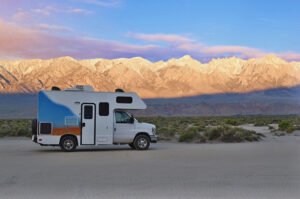 Best Death Valley Campgrounds RV at Sunrise