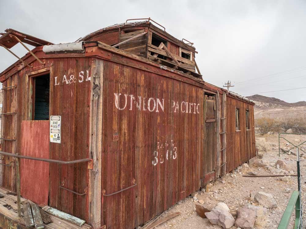 Rhyolite ghost town rail car