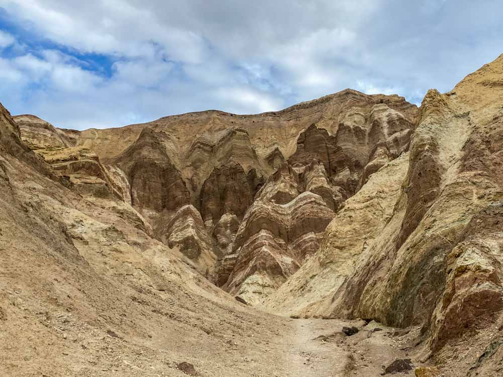 Golden Canyon rock landscape