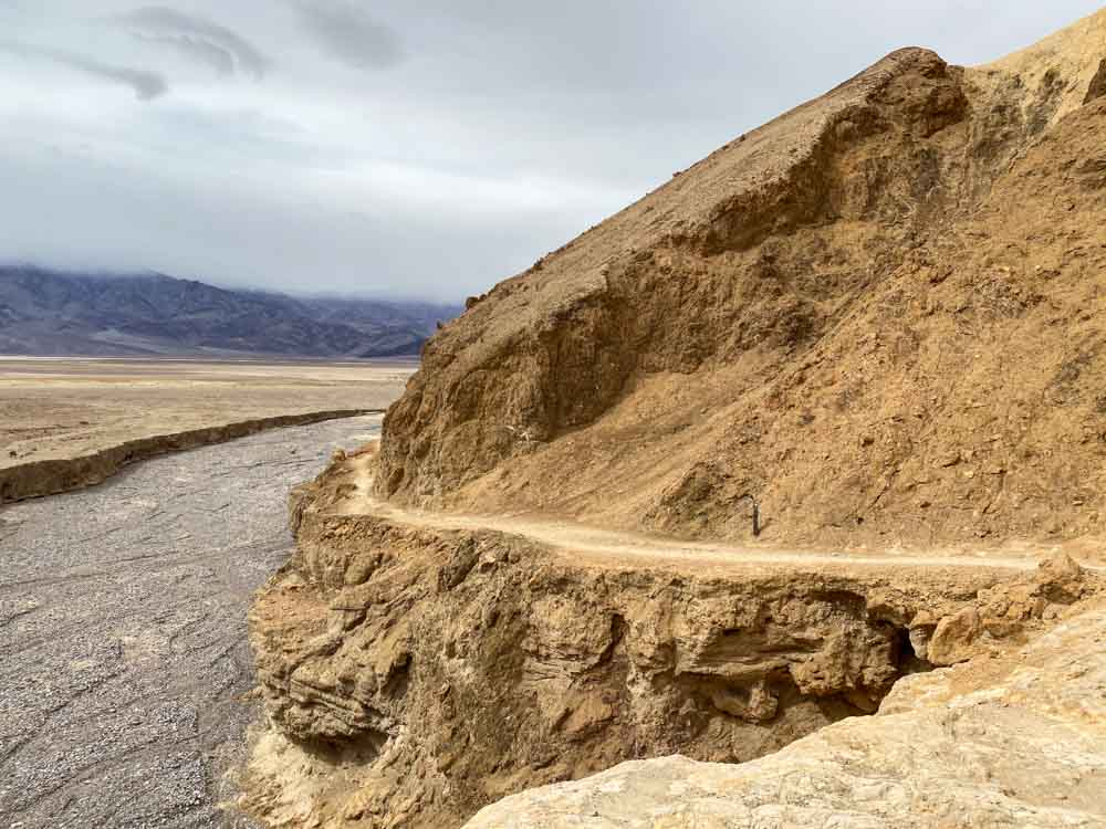 End of Gower Gulch loop hike at Badwater Basin