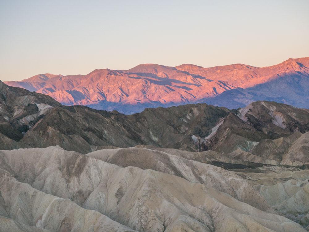 Dawn Death Valley view Zabriskie Point