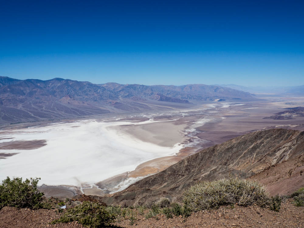 Visit Death Valley for Dante's View. Mountain overlook and valley floor