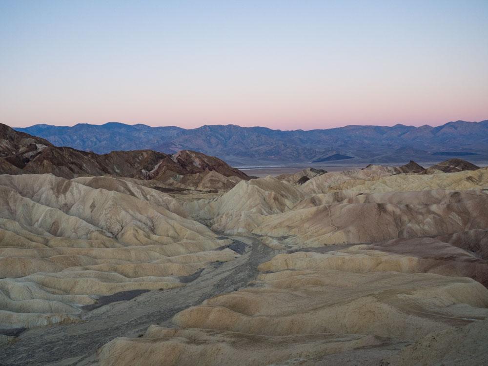 Zabriskie Point Death Valley Dawn View