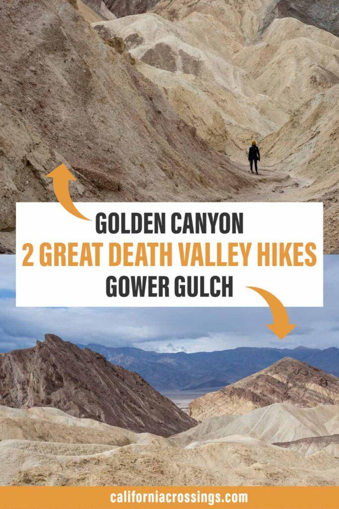 Gower Gulch Golden Canyon trail - best Death Valley hikes
