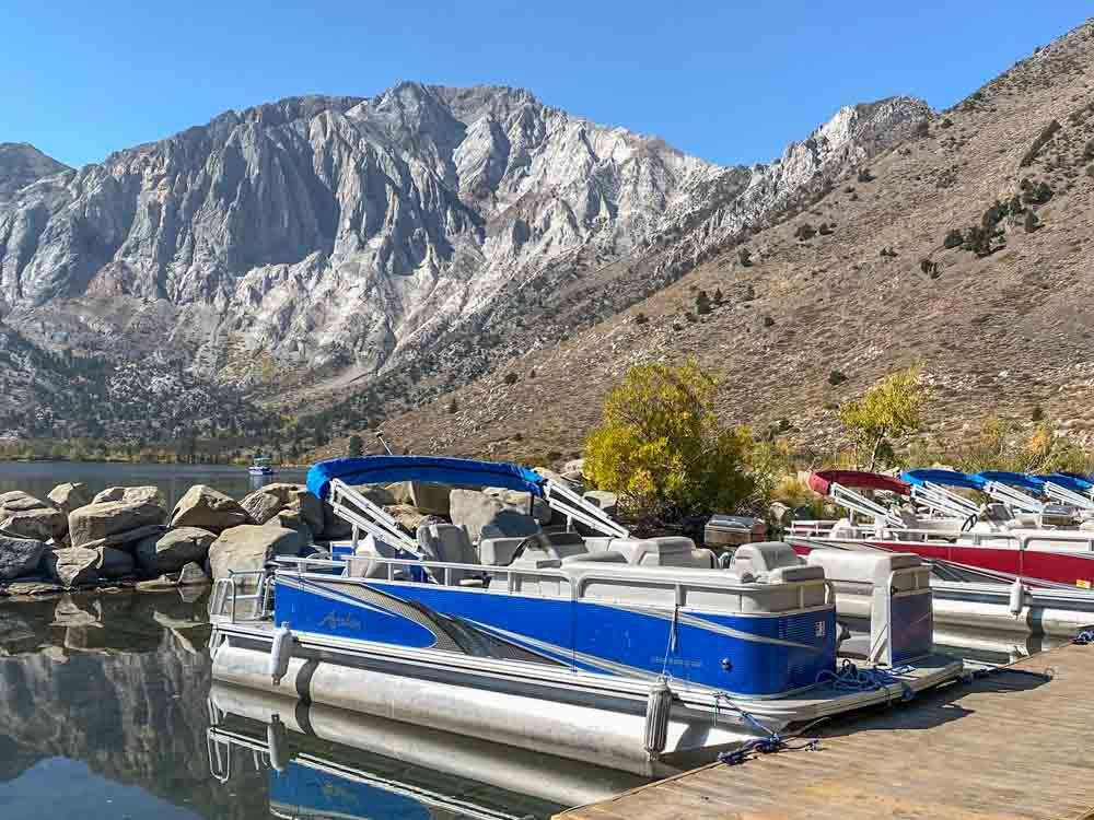 Convict Lake boat dock