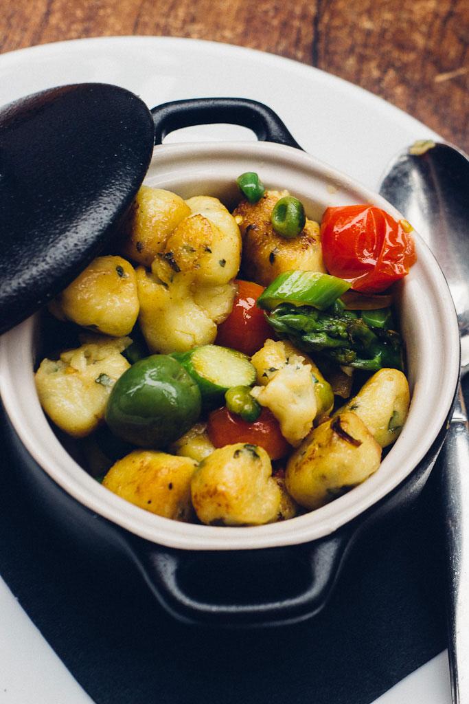 Carmel dining Basil restaurant. pot of vegetables