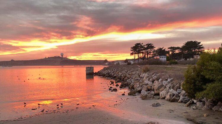 Sunset in Princeton Harbor Northern California