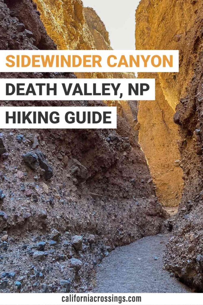 Sidewinder Canyon Death Valley hiking guide