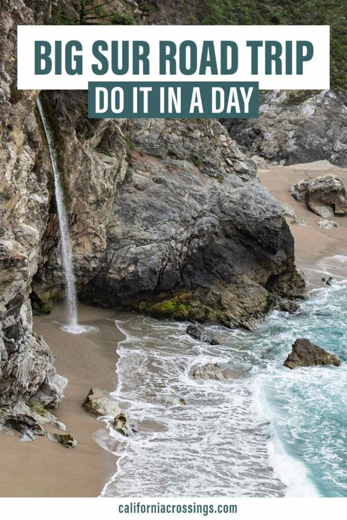 Big Sur Road Trip Do it in one day. McWay Waterfall at the ocean
