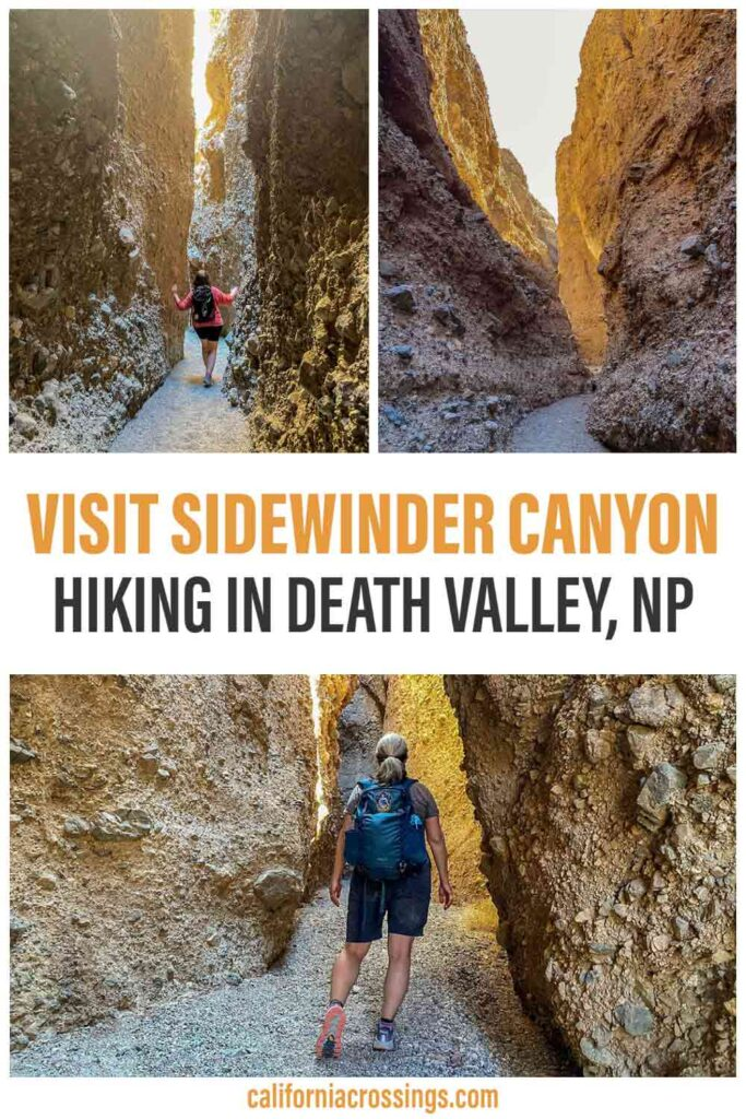 Visit Sidewinder Canyon Death Valley hiking. two women hiking