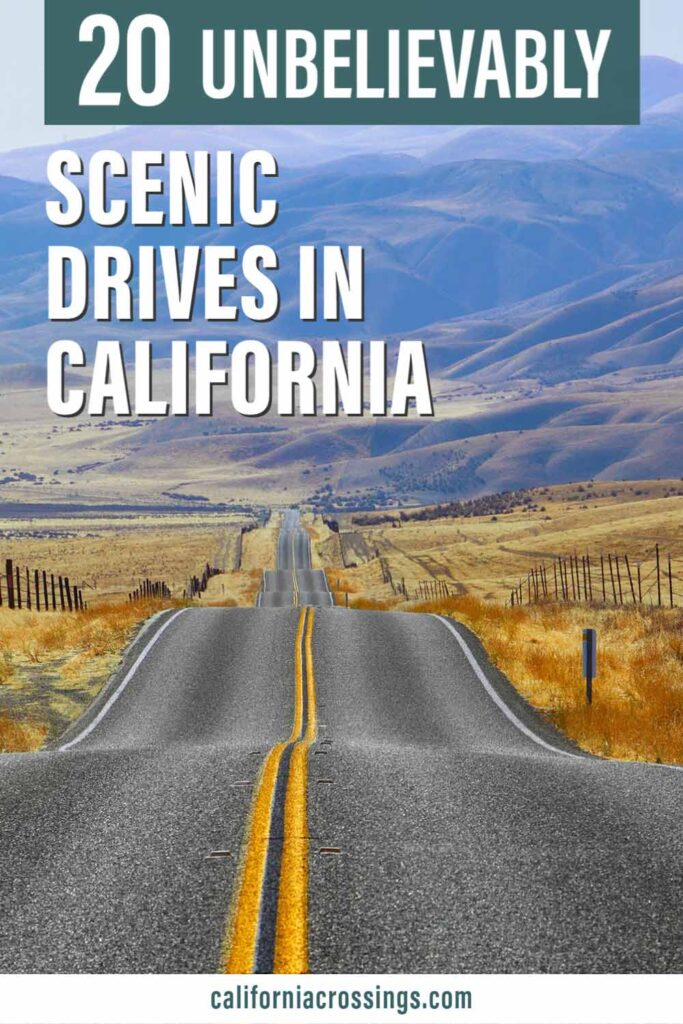 20 best scenic drives in California. long road in the mountains of California
