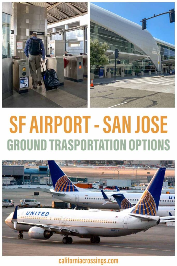San Francisco airport to San Jose airport ground transportation options