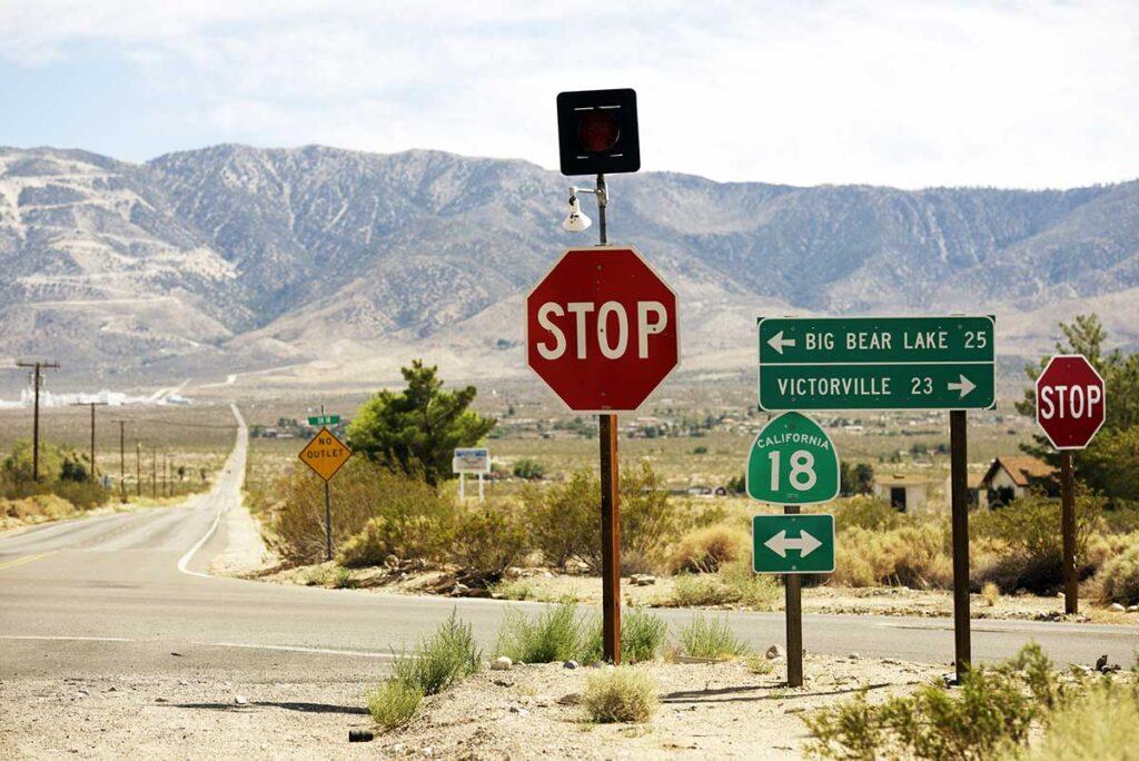 Big Bear highway 18 scenic road