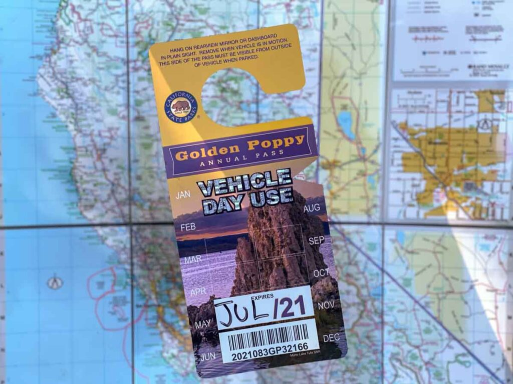 California State Parks Pass- Explorer Pass with Map