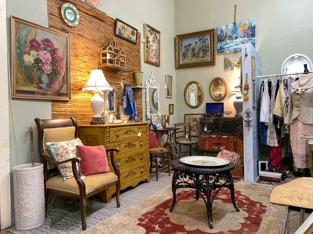 Cayucos Antique shop furniture and clothing