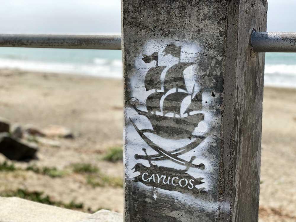 Cayucos beach stencil