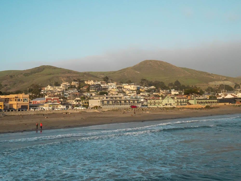 Cayucos California town view