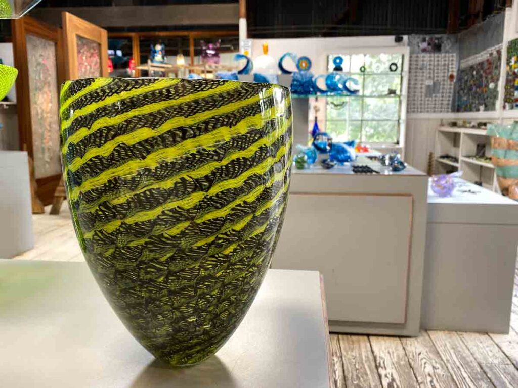 Harmony Glassworks green vase