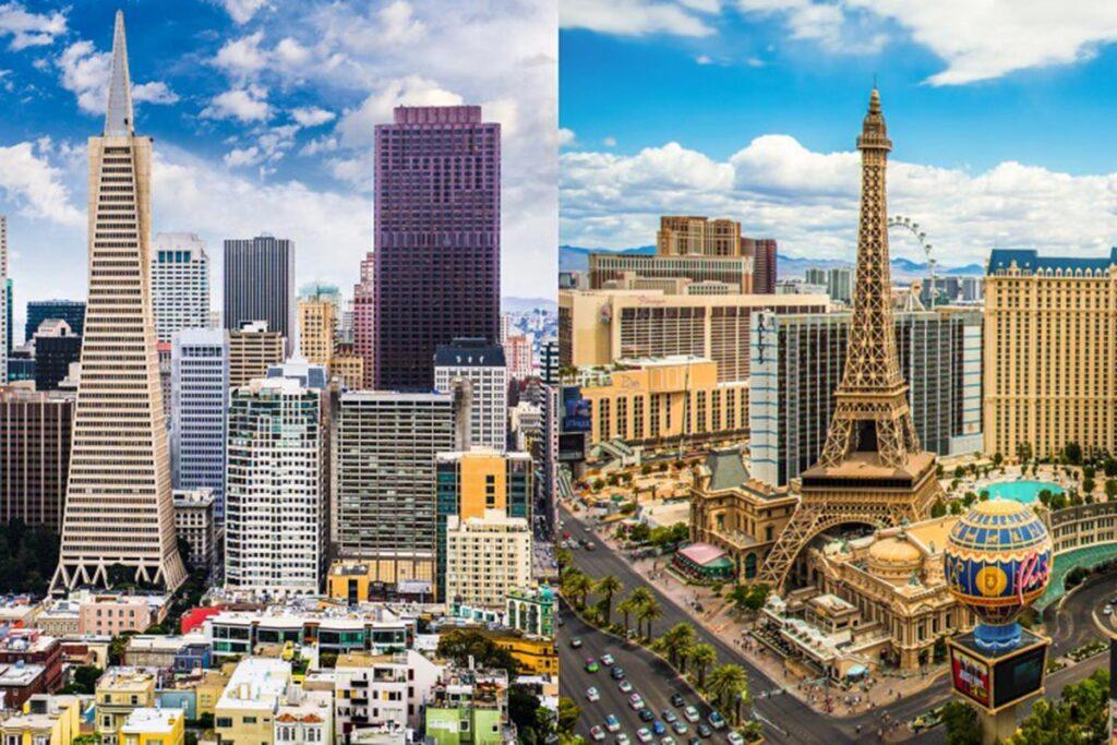 San Francisco to Las Vegas Drive Routes- city skylines
