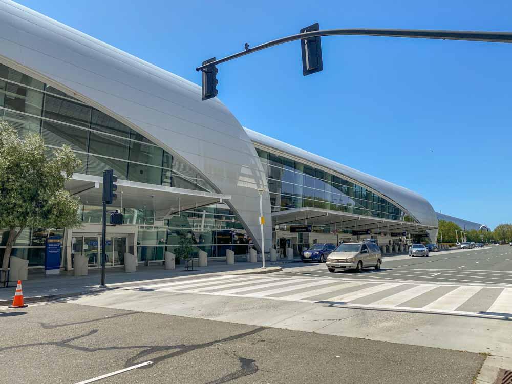 San Jose Airport exterior Terminal B