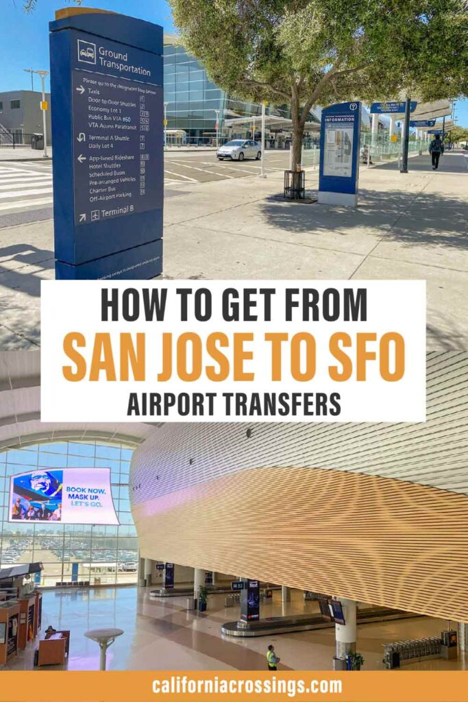 How to get from San Jose to SFO airport transfers