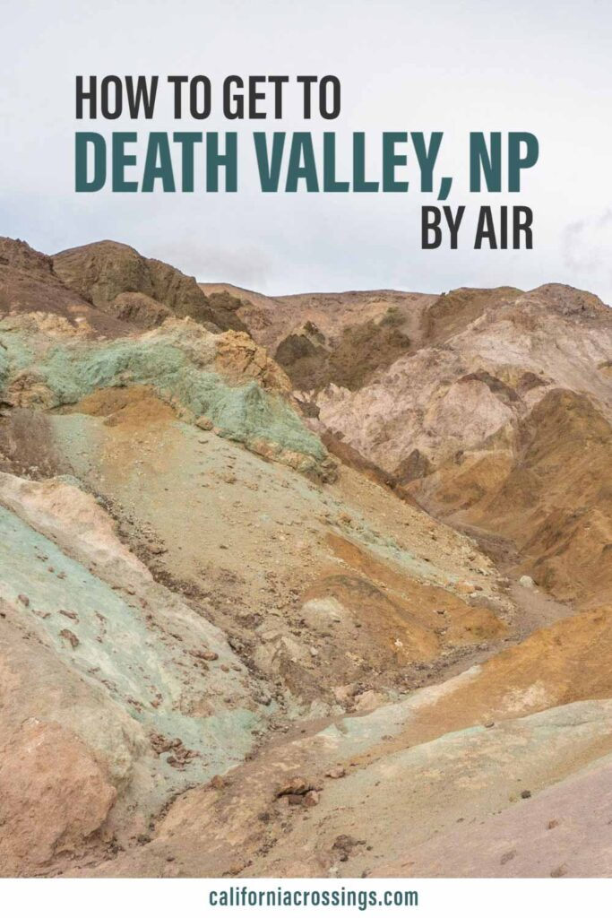 Find the closest airport to Death Valley National Park. Desert landscape