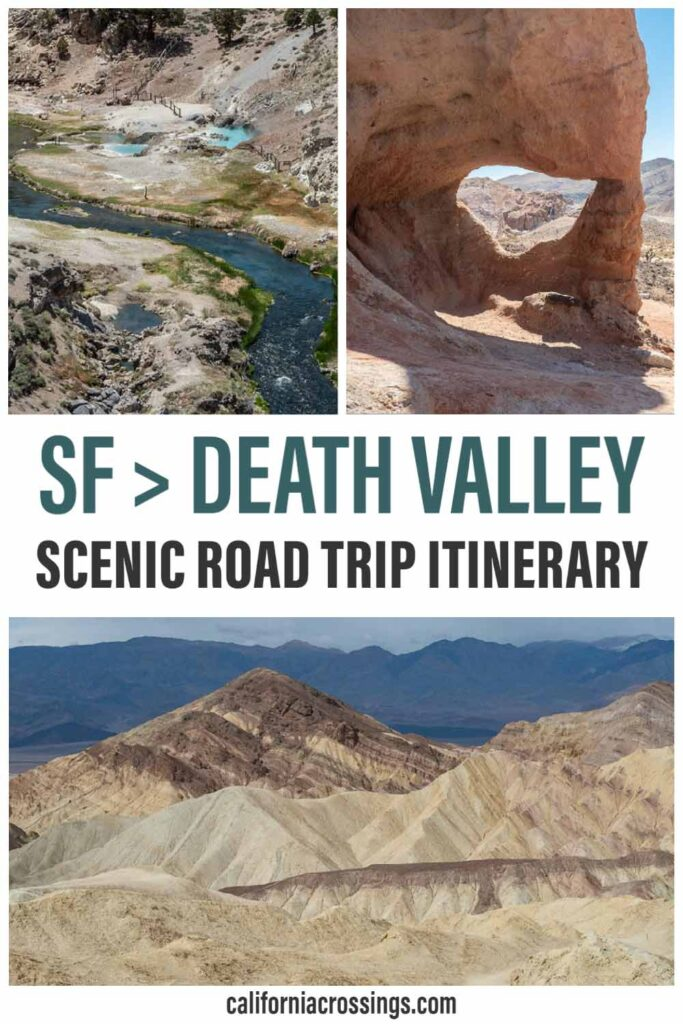 San Francisco to Death Valley scenic road trip itinerary