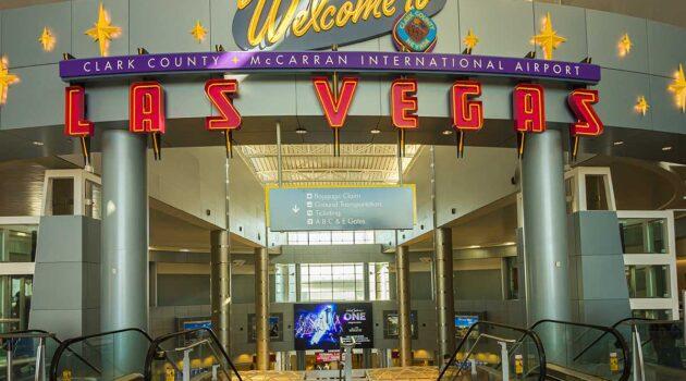 Las Vegas McClarran Airport welcome sign
