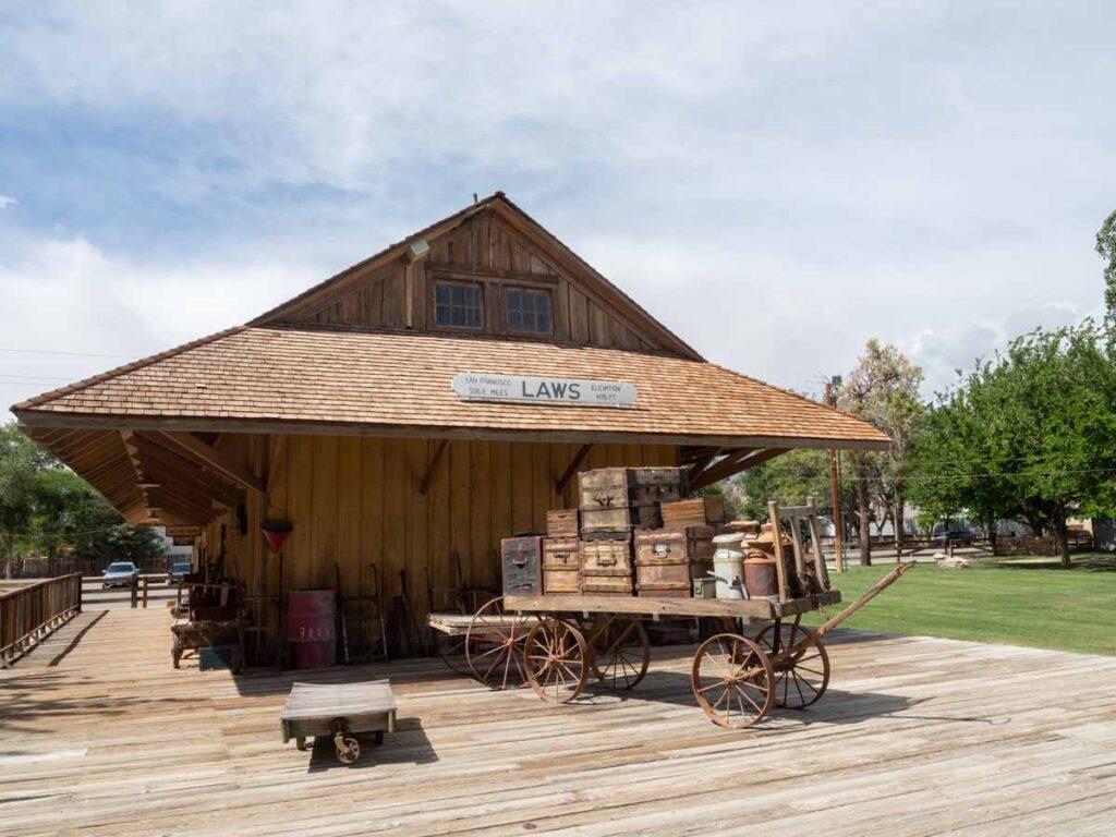 Laws Railroad Museum train depot Bishop CA