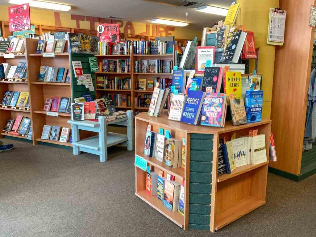 Spellbinder books Bishop, CA. Bookshelves and book display