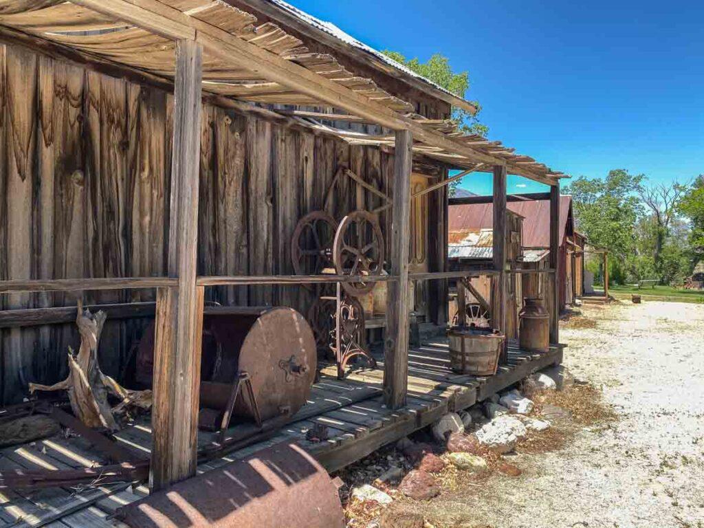 Eastern Sierras Museum old building exhibit
