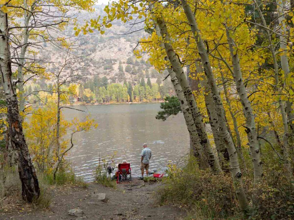 Gull Lake on the June Lake Loop fall leaves